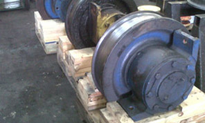 Crane wheels when received by customer