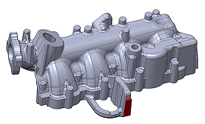 Drawing of an Engine Cooling Component